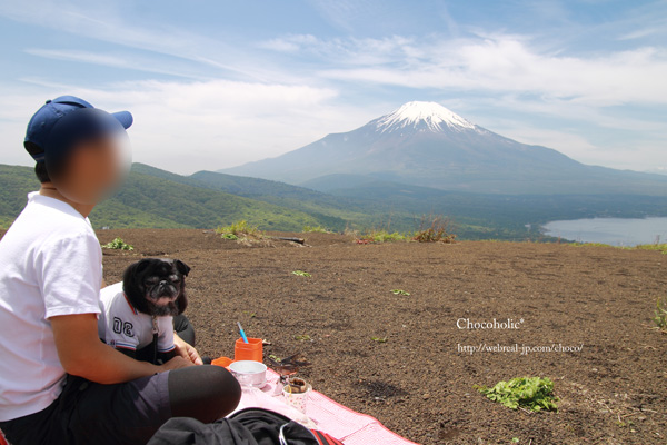 山頂でランチ 明神山