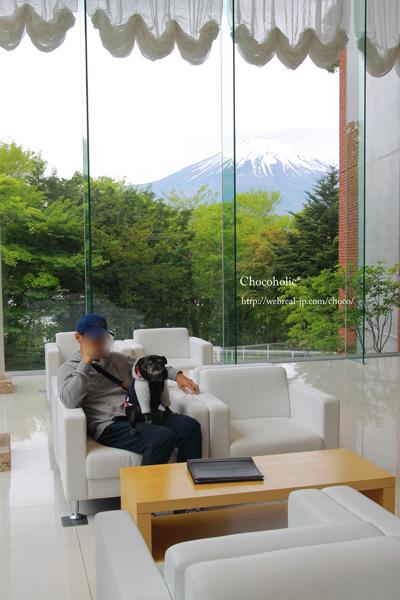 ホテル凛香 ロビー 富士山