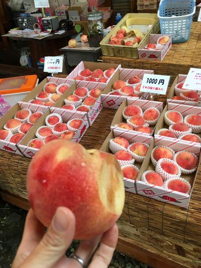 桃の直売所