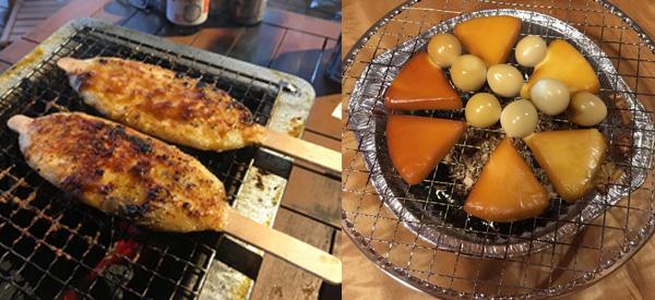 五平餅 スモークチーズ