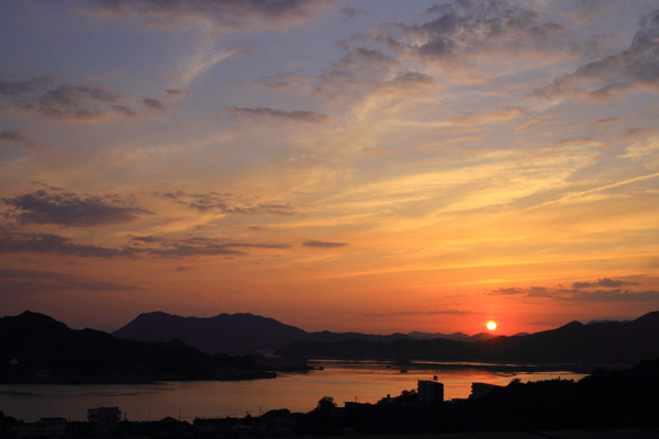 しまなみ海道 夕暮れ
