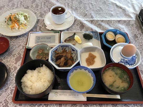 ホテルアーサー 朝食