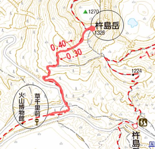 杵島岳 登山 地図